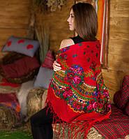 Украинский платок (125х125см, красный)