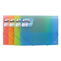 Папка Axent на резинках А4, ассорти прозрачных цветов
