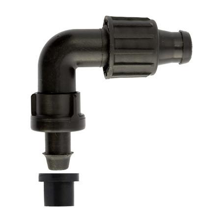 Стартконнектор для ленты угловой с поджимом  и уплотнением (Irritec)