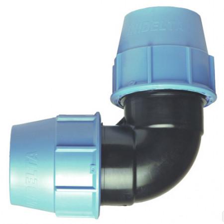 Колено компрессионное (63 мм, Unidelta)