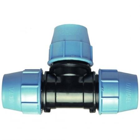 Тройник равный компрессионный (110 мм, Unidelta)