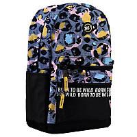 Рюкзак молодежный Yes T-100 Double сизый-черный (558399)