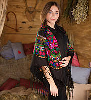 Украинский платок (125х125см, чорный), фото 1