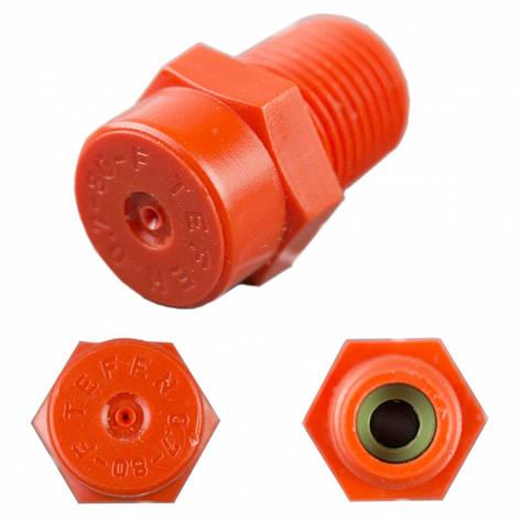 "Туманообразователь односопловый Tefen (Non  Drop Nozzle 1/8"" NPT) red.80°, фото 2"