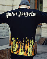Футболка мужская оверсайз Palm Angels Wild черная