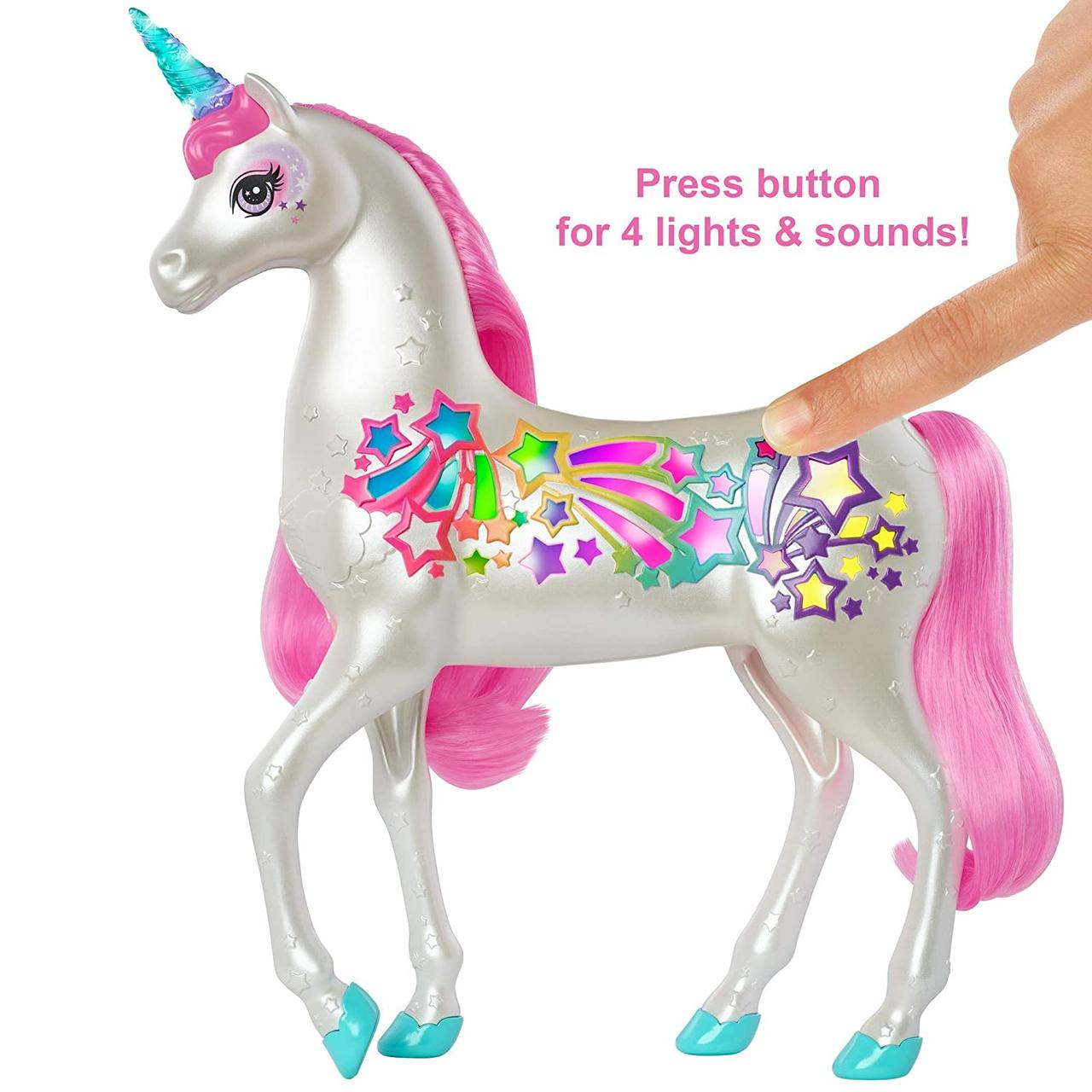 Barbie Dreamtopia Мерцающий единорог Magic Hair Game Unicorn Mattel GFH60