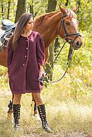 Пальто дизайнерское свободного кроя в 2х цветах BN Эдриан, фото 1