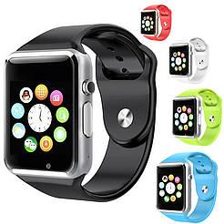 Умные часы Smart watch A1, Sim, каучуковый ремешок, разные цвета