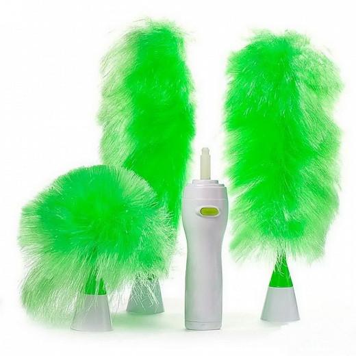Щетка вращающаяся для удаления пыли Go Duster, электрощетка антипыль, метелка для профессиональной уборки