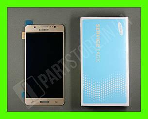 Дисплей Samsung j510 Gold j5 2016 (GH97-19466A) сервисный оригинал, фото 2