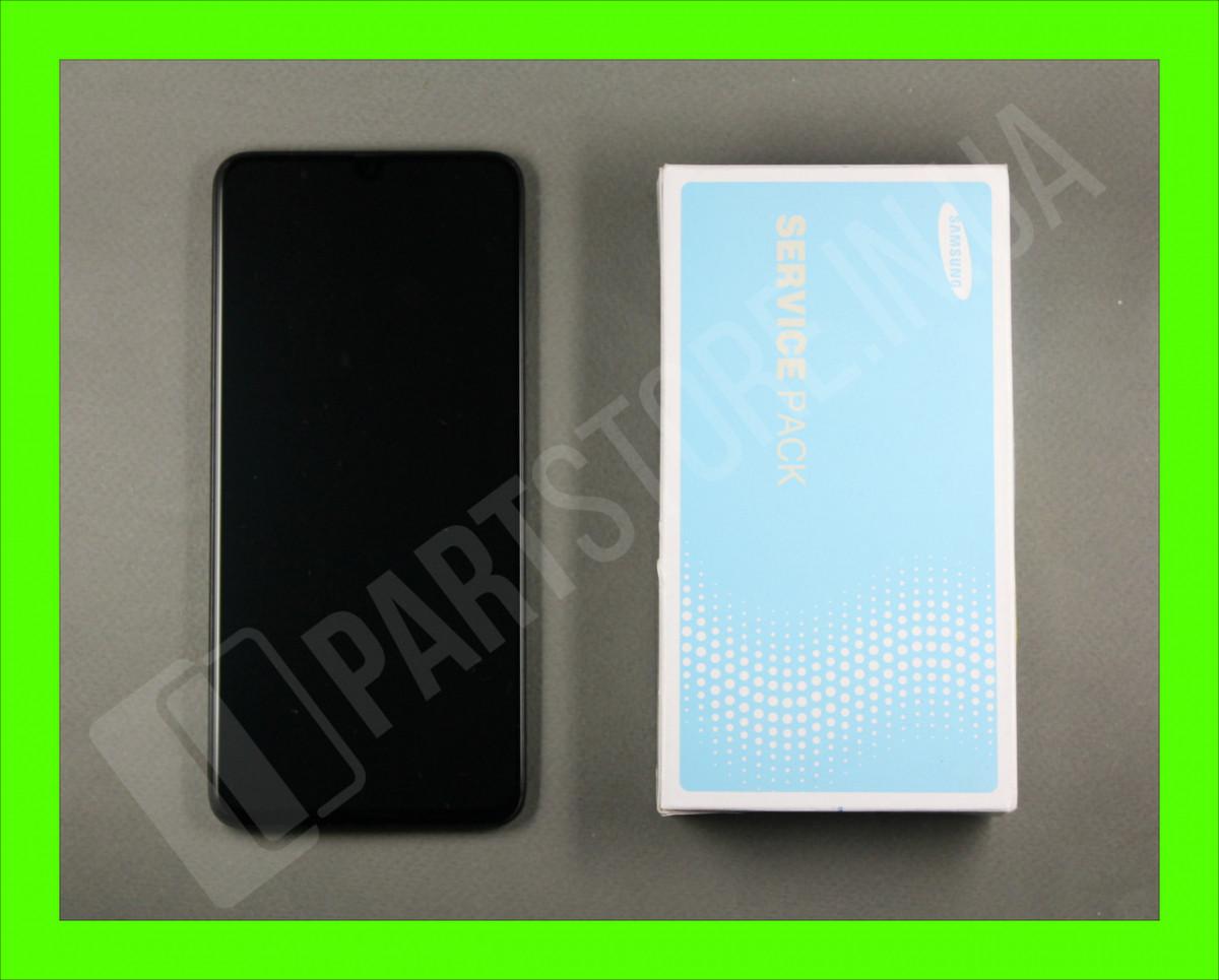 Дисплей Samsung А705 Black А70 2019 (GH82-19747A) сервисный оригинал в сборе с рамкой