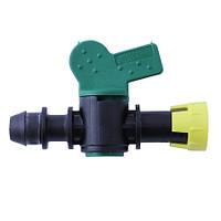 Миникран для ленты с впаяным уплотнением  с зажимным кольцом Irritec/Siplast (Италия)