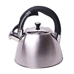 РАСПРОДАЖА!!! Чайник Kamille 3 л из нержавеющей стали с металлическим свистком, индукционное дно