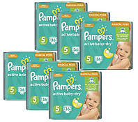 Подгузники Pampers Active Baby-Dry 5 Junior (11-18 кг) 216 шт (36шт*6уп)