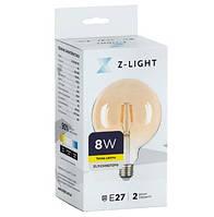"LED лампа филаментная Z-Light ""Шар большой"" 8W E27 2200К Gold ZL19508272FG"