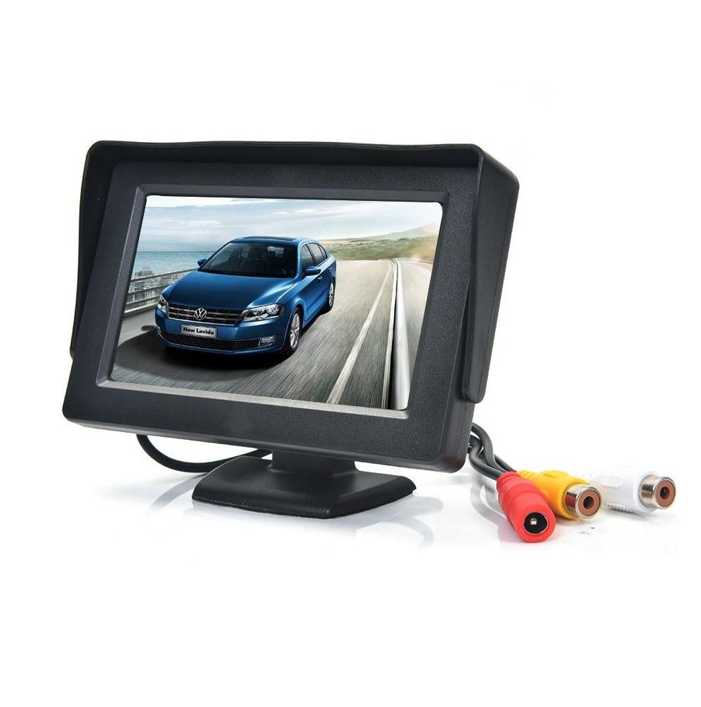 Автомобильный монитор для камеры заднего вида Security TFT monitor 4.3 дюйма, с козырьком, JL403HR, черный