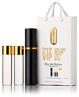 Туалетная вода женская Carolina Herrera 212 VIP edt 3X15 ml, Подарочная упаковка!, фото 1