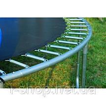 Батут FunFit 490 см (до 180 кг) с Сеткой + Лестница, фото 2
