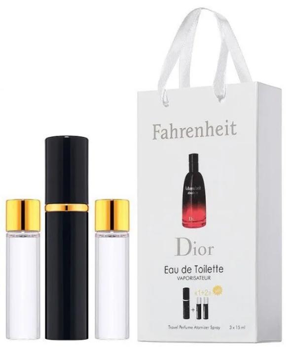 Туалетная вода Christian Dior Fahrenheit в подарочном наборе, три флакона