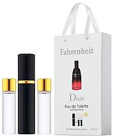 Туалетная вода Christian Dior Fahrenheit в подарочном наборе, три флакона, фото 1
