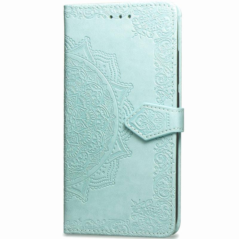 Кожаный чехол-книжка Epik Art Case с визитницей для Samsung G950 Galaxy S8 Бирюзовый (717873)