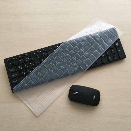 Беспроводная клавиатура с мышью Apple Magic k06 реплика с защитным покрытием, Черная