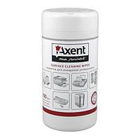 Салфетки Axent для орг.технику влажные, 100 шт.