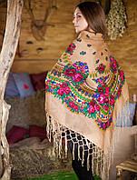 Украинский платок (125х125см, кофейный), фото 1