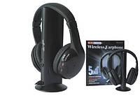 Беспроводные наушники 5в1 + FM радио Wireless Headphone pc tv, фото 1
