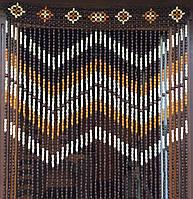 Шторы из деревянных бусин (40 Подвесок )ШИРИНА  - 1 М 20 СМ.