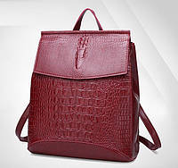 Женский рюкзак сумка Крокодил