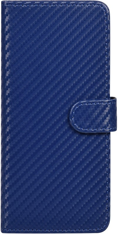 "Чохол-книжка TOTO Book Carbon Fiber Universal Cover 5,5-5,7"" Navy Blue (101625)"