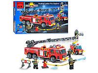 Конструктор BRICK 908  Пожарная машина 607 деталей