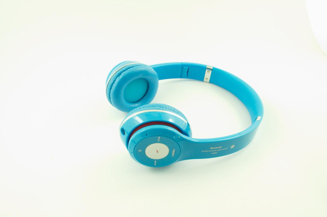 Навушники безпровідні bluetooth S460 блакитні