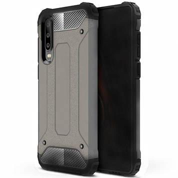 Бронированный противоударный TPU+PC чехол Epik Immortal для Samsung Galaxy A50 (A505F) / A50s / A30s Gun Metal (697138)