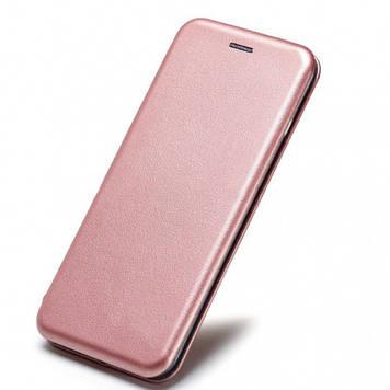 Кожаный чехол-книжка Epik Classy для Samsung Galaxy A10 (A105F) Rose Gold (707151)