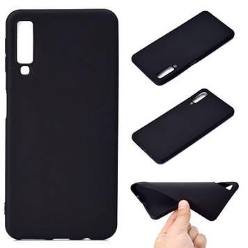 Силиконовый чехол Epik Candy для Samsung A750 Galaxy A7 (2018) Черный (685610)