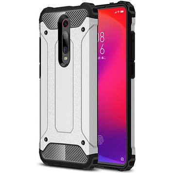 Броньований протиударний TPU+PC чохол Epik Immortal для Xiaomi Redmi K20 / K20 Pro / Mi9T / Mi9T Pro Срібний (713242)