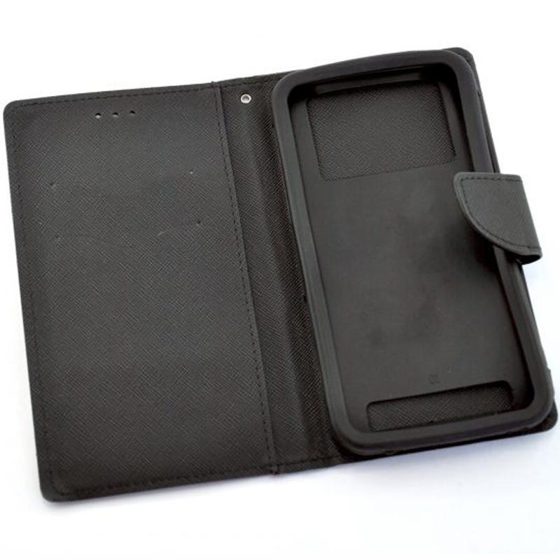 Чехол-книжка 4you Fancy для смартфонов 5.3-5.7 Black (717291)