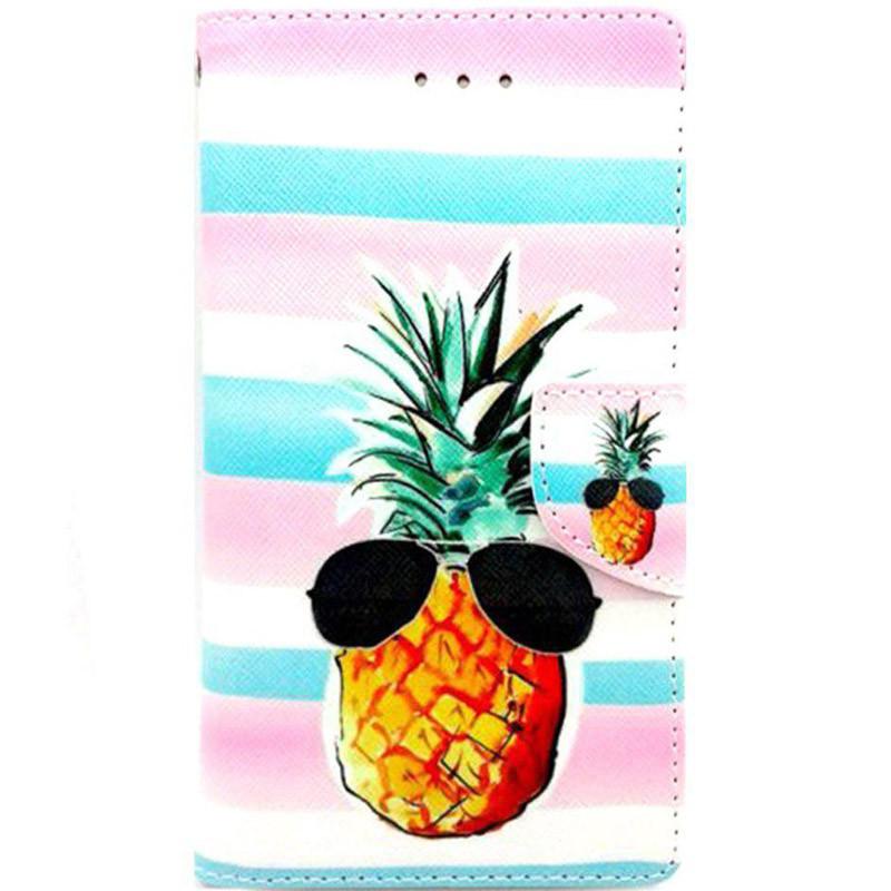 Чехол-книжка 4you Art Print  для смартфонов 4.0-4.4 Pineapple (717308)