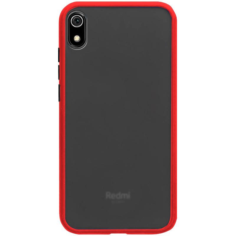 TPU+PC чехол Epik Color Buttons Shield для Xiaomi Redmi 7A Красный (770729)