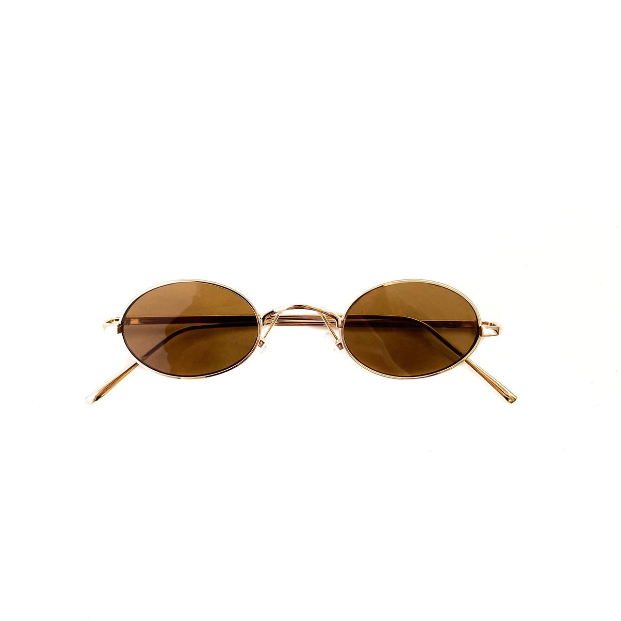 Имиджевые овальные узкие очки vN7926