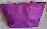 Женская разноцветная текстильная сумка на плечо пляжная и городская 35*33 см (полосатая), фото 2