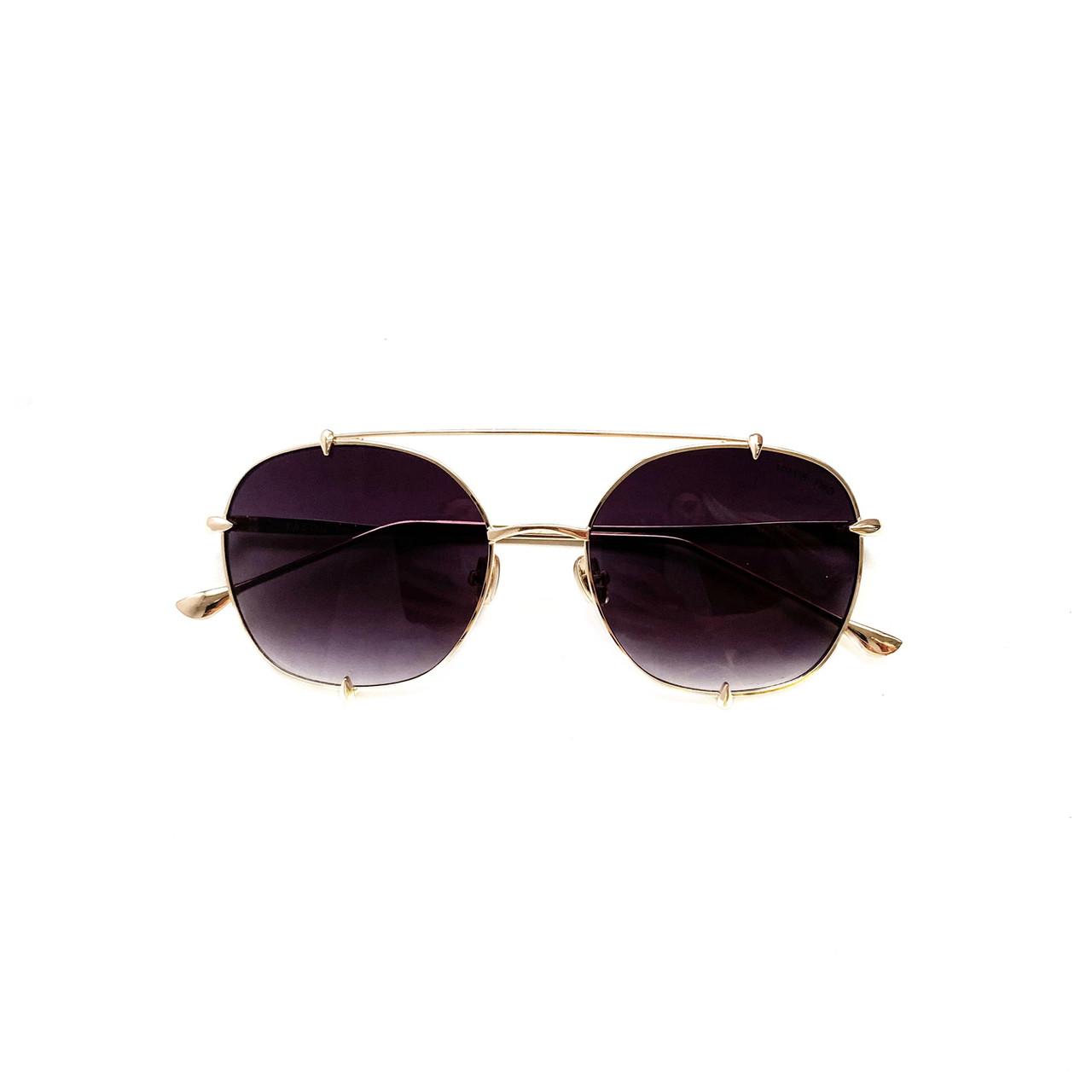 Имиджевые солнцезащитные очки в золотой оправе vN7943