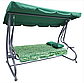 Садовая КАЧЕЛЬ ГОЙДАЛКА Диван раскладная  Relax Plus (250 кг нагрузка) Зеленая, фото 2