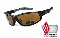 Спортивные солнечные очки POLARIZED Daytona-3 коричневые, фото 1