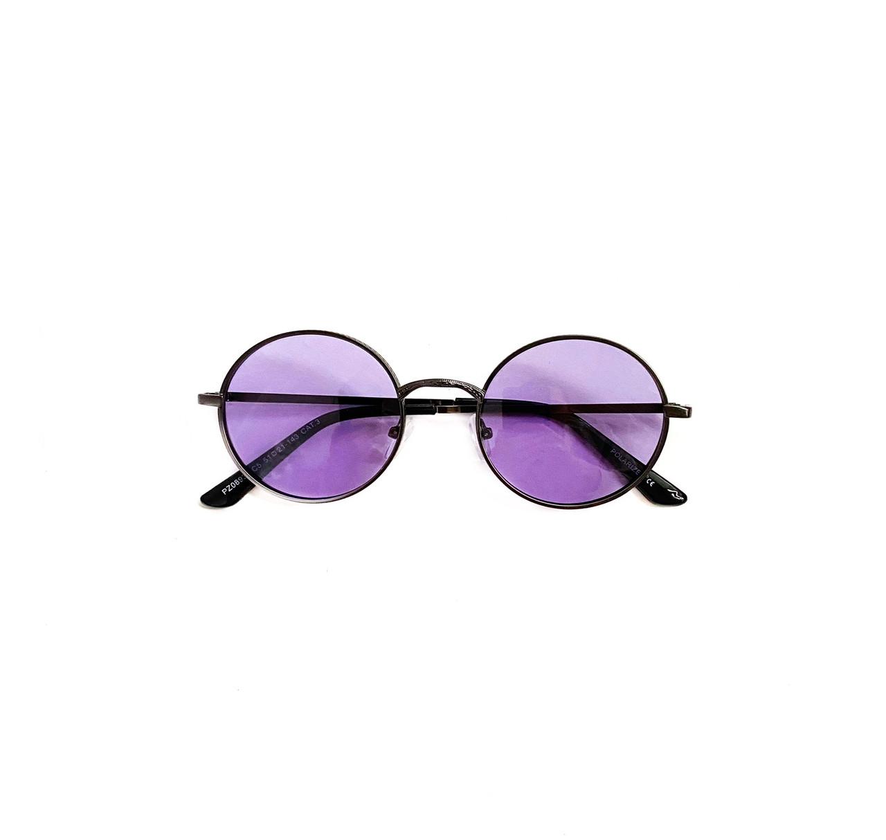 Солнцезащитные круглые фиолетовые очки vN7951