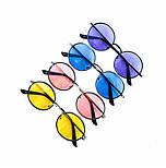 Солнцезащитные круглые фиолетовые очки vN7951, фото 2
