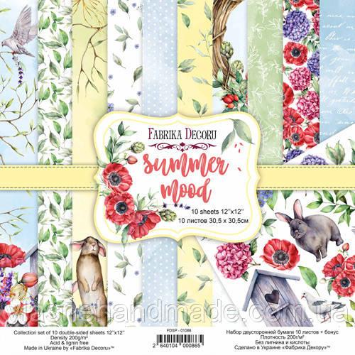 Набір двостороннього паперу - Summer mood - Fabrika Decoru - 30х30