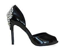 Босоножки с камнями S.E.Lena Allshoes 38 Черные (51002/38)